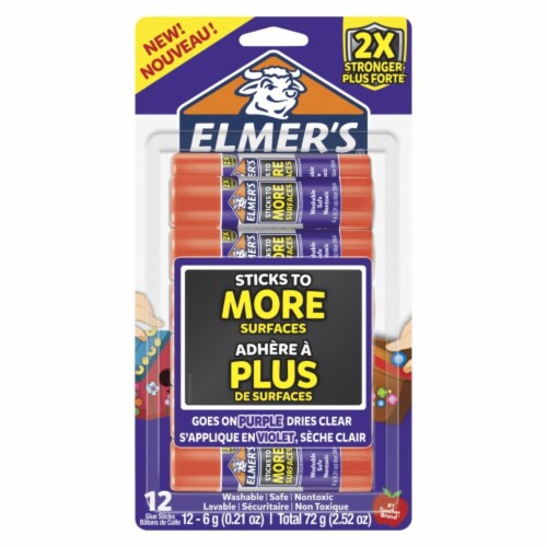 Elmers 2004797 0.21 oz Extra Strength Glue Sticks, Clear - Pack of 12 Perspective: front