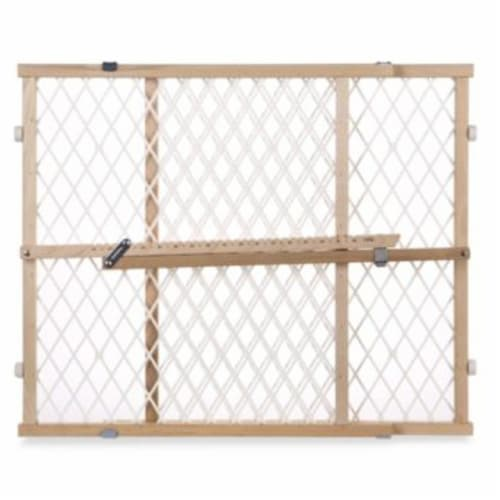 North States Diamond Mesh Gate - White Perspective: front