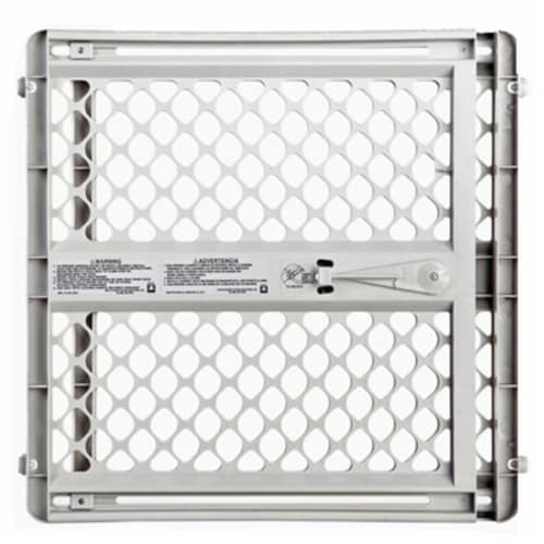 North States Gray 26 in. H x 26-42 in. W Plastic Child Safety Gate - Case Of: 1; Perspective: front
