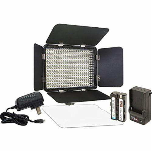 Vidpro Led-330x Varicolor Studio Video Lighting Kit For Canon Camcorder And Studio Perspective: front