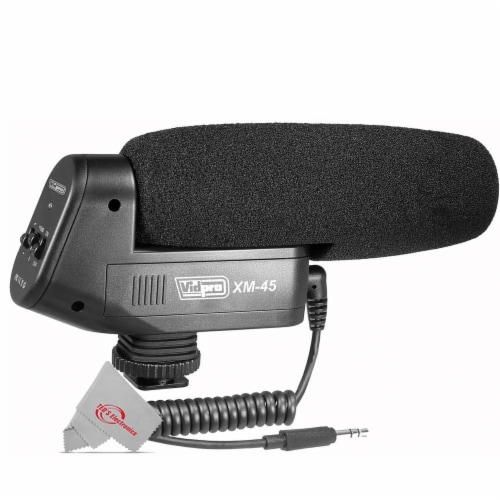 Vidpro Condenser Shotgun Microphone For Dslrs Camcorders And Video Recorders Perspective: front