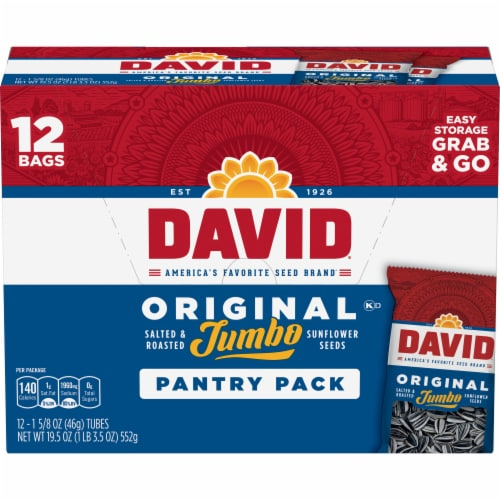 David Original Jumbo Sunflower Seeds Pantry Pack Perspective: front
