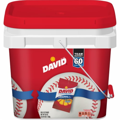 David Original Sunflower Seeds Bucket Perspective: front