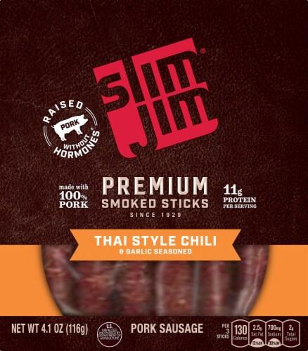 Slim Jim Premium Thai Style Chili Pork Sausage Smoked Sticks Perspective: front