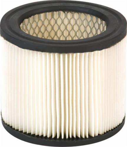 Shop-Vac Type AA Vaccum Cartridge Filter Perspective: front