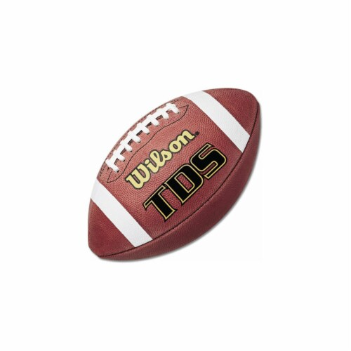 Wilson 3F1205R Wilson TDS Traditional Official Size Leather Football Perspective: front