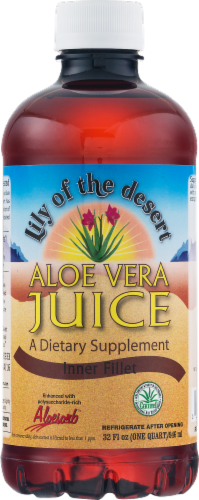 Lily of the Desert Organic Aloe Vera Juice Perspective: front