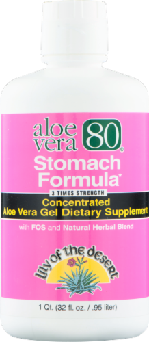 Lily of the Desert Stomach Formula Aloe Vera 80 Dietary Supplement Perspective: front