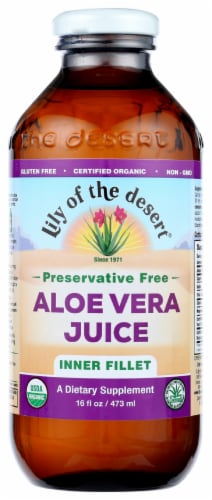Lily of the Desert Preservative Free Inner Fillet Aloe Vera Juice Perspective: front