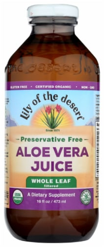 Lily of the Desert Preservative Free Whole Leaf Aloe Vera Juice Perspective: front