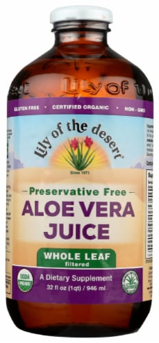 Lily of the Desert Whole Leaf Aloe Vera Juice Perspective: front