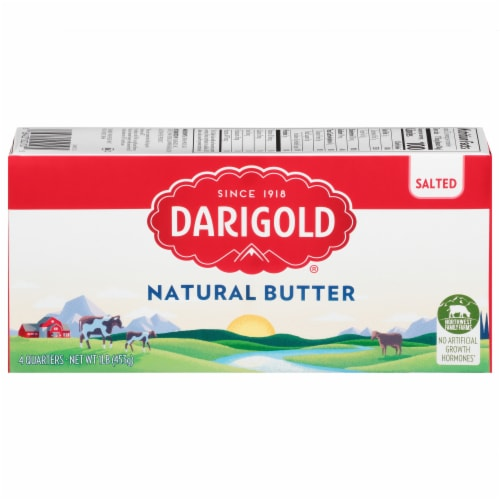 Darigold Natural Salted Butter Quarters Perspective: front