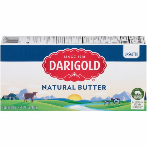 Darigold Natural Unsalted Butter Quarters Perspective: front