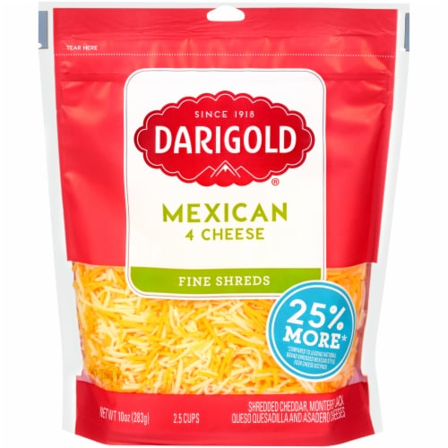 Darigold Mexican 4 Cheese Blend Fine Shredded Cheese Perspective: front