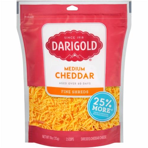 Darigold Medium Cheddar Fine Shredded Cheese Perspective: front