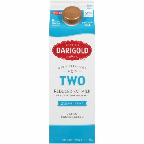 Darigold Two Ultra-Pasteurized 2% Reduced Fat Milk Perspective: front