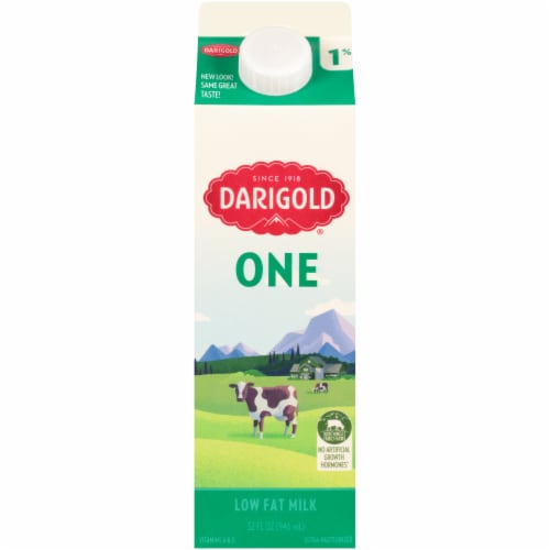 Darigold One Ultra-Pasteurized 1% Low Fat Milk Perspective: front