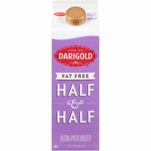 Darigold Fat Free Ultra-Pasteurized Half & Half Perspective: front