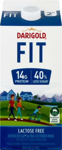 Darigold Fit 2% Reduced Fat Ultra-Filtered Milk Perspective: front