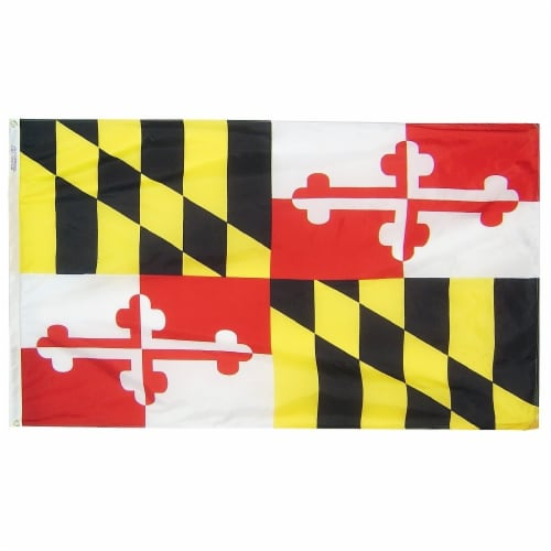 Annin Flags Nylon Solar Guard Maryland State Flag Perspective: front