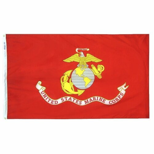 Annin Flagmakers U.S. Marine Corps Military Flag - Red/White Perspective: front