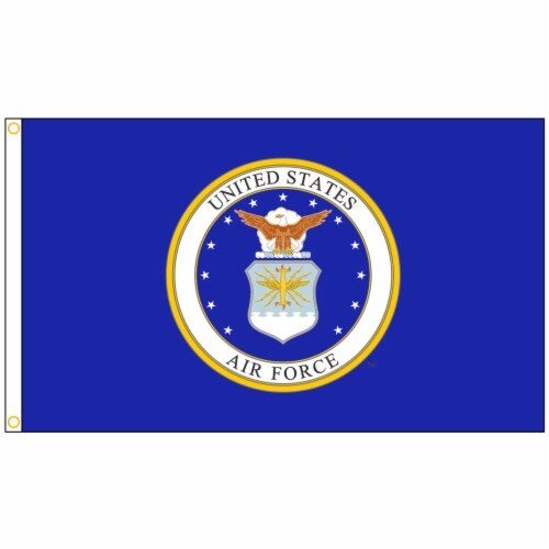 Annin Flagmakers U.S. Air Force Military Flag - Blue/White Perspective: front