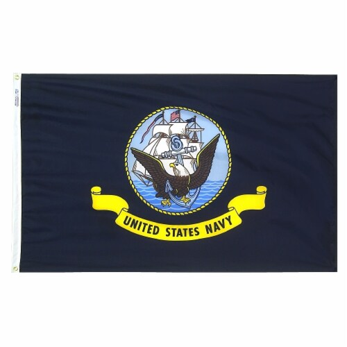 Annin Flagmakers U.S. Navy Military Flag Perspective: front