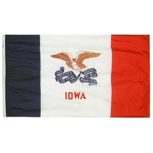 Annin Flags Nylon Solar Guard Iowa State Flag Perspective: front