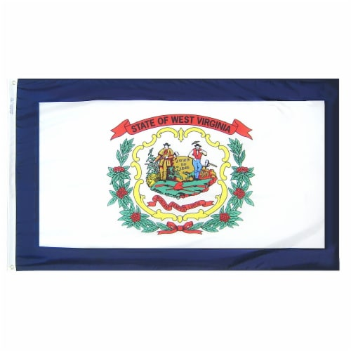 Annin Flags Nylon Solar Guard West Virginia State Flag Perspective: front