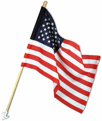 Annin Flagmakers American Flag Kit with Wood Pole Perspective: front