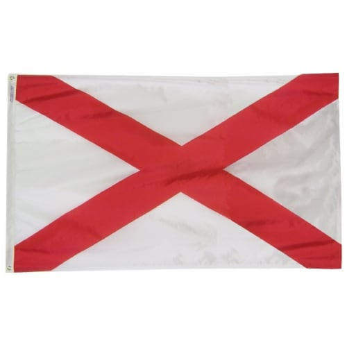 Annin Flags Nylon Solar Guard Alabama State Flag Perspective: front