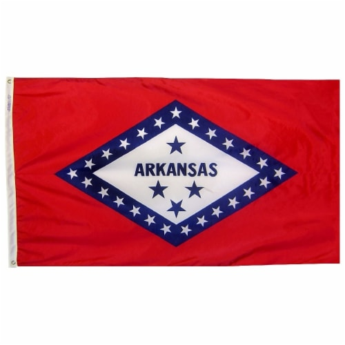 Annin Flags Nylon SolarGuard Arkansas State Flag Perspective: front
