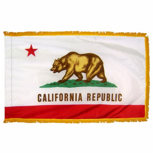 Annin Flags Nylon SolarGaurd California State Flag with Pole Sleeve Perspective: front