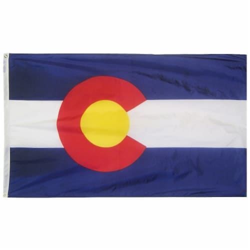 Annin Flagmakers Colorado State Flag Perspective: front
