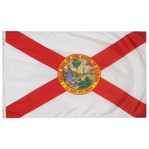 Annin Flags Nylon SolarGaurd Florida State Flag Perspective: front