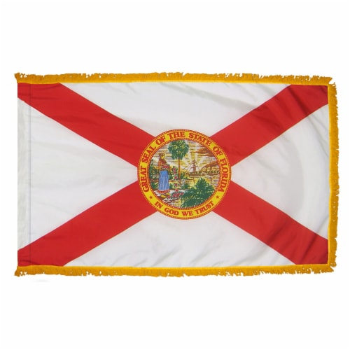 Annin Flags Nylon SolarGaurd Florida State Flag with Pole Sleeve Perspective: front