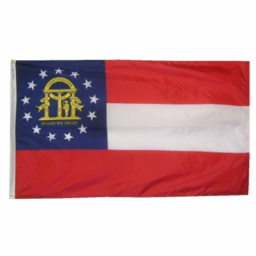 Annin Flags Nylon SolarGaurd Georgia State Flag Perspective: front