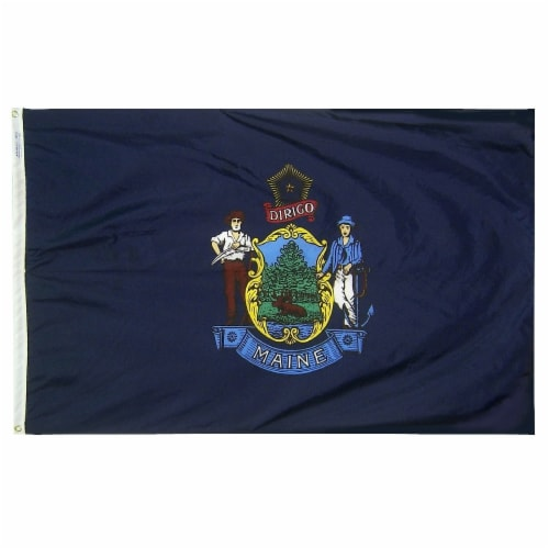 Annin Flags Nylon SolarGaurd Maine State Flag Perspective: front