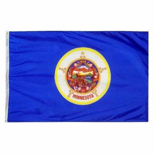 Annin Flags Nylon SolarGaurd Minnesota State Flag Perspective: front