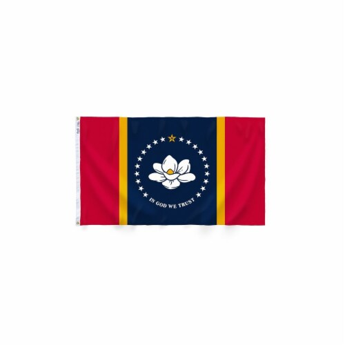 Annin Flags Nylon SolarGaurd Mississippi State Flag Perspective: front