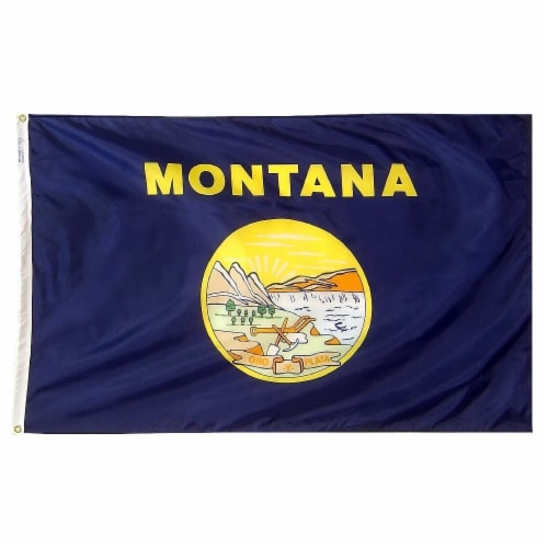 Annin Flagmakers Montana State Flag Perspective: front