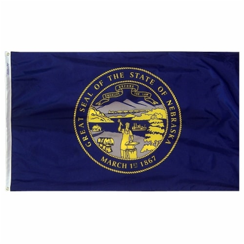 Annin Flags Nylon SolarGaurd Nebraska State Flag Perspective: front