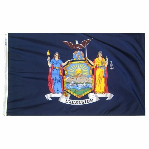 Annin Flags Nylon SolarGaurd New York State Flag Perspective: front