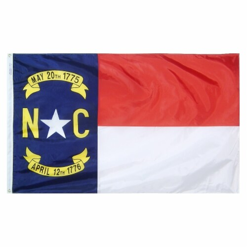 Annin Flags Nylon SolarGaurd North Carolina State Flag Perspective: front