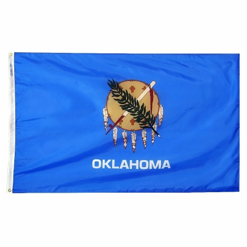 Annin Flags Nylon SolarGuard Oklahoma State Flag Perspective: front