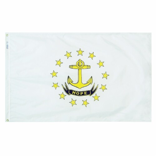 Annin Flags Nylon SolarGuard Rhode Island State Flag Perspective: front