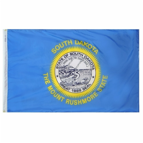 Annin Flags Nylon SolarGuard South Dakota State Flag Perspective: front