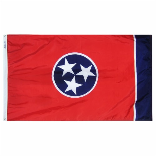 Annin Flags Nylon SolarGuard Tennessee State Flag Perspective: front