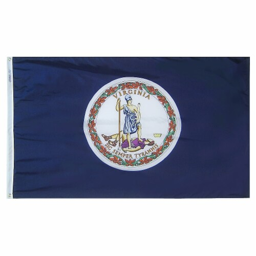 Annin Flags Nylon SolarGuard Virginia State Flag Perspective: front