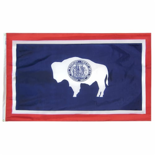 Annin Flags Nylon SolarGuard Wyoming State Flag Perspective: front
